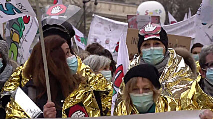 Paris: Students join teachers and school nurses at education strike march in Paris