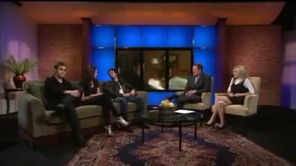 Nina, Paul & Ian preview Vampire Diaries season finale on Ktla Morning News