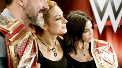 Jenna Dewan and Steve Kazee meet Becky Lynch: WWE.com Exclusive, June 23, 2019