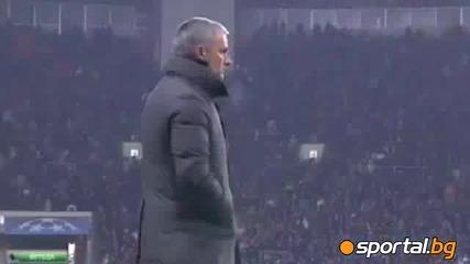 Реакцията на Моуриньо при гола на Кристиано срещу Цска (м)