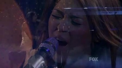 Miley Cyrus - When I Look At You Live