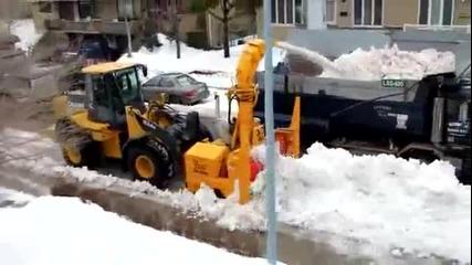 Как се чисти снега в Америка
