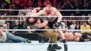Brock Lesnar and Braun Strowman collide for the first time ever in the Royal Rumble Match: Royal Rumble 2016