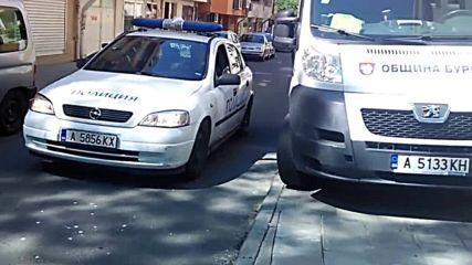 Общински Автомобил Спрял На Тротоар В Бургас