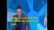Mans Zelmerl - Cara Mia [karaoke]