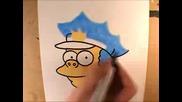 Рисуване На Chief Wiggum