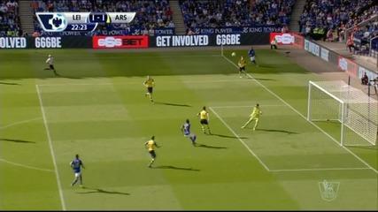Арсенал пак мъждука навън, Лестър взе точка