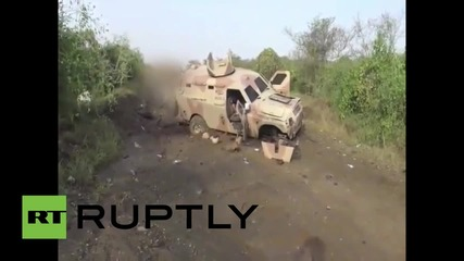 Yemen: Houthi fighters destroy alleged Saudi military convoy