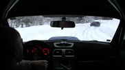 Subaru Impreza Wrx Sti snow driving onboard 1