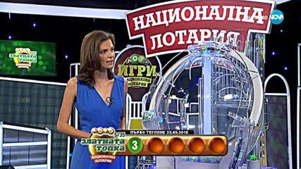 """Теглене на играта Лото 5/35 """"Златната топка"""" - 22.09.2018г."""
