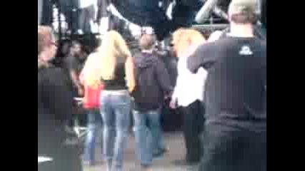dave mustaine излиза на сцената на Sonisphere Sofia 2010