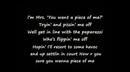 Britney Spears Piece Of Me Lyrics HQ Blackout