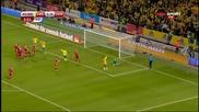 Швеция 2 - 1 Дания ( Eвро 2016 бараж ) ( 14/11/2015 )
