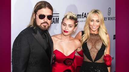 Miley Cyru's Mom, Tish Cyrus, Wears Cleavage Baring Fishnet Dress
