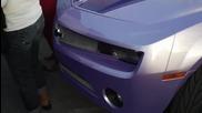 Purple Outrageous Camaro on 30 Forgiato Grassettos-hd
