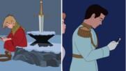 Художник показа как би изглеждал живота на героите на Дисни в наши дни