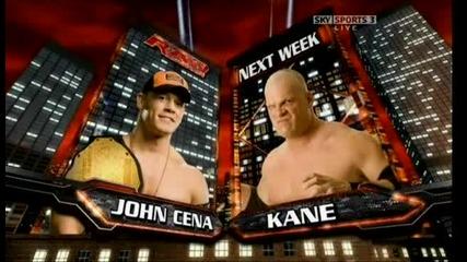 Next Raw - John Cena Vs Kane