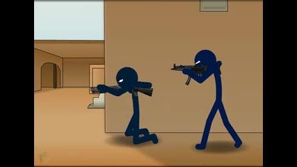 Counter - Strike - De dust2 Hd анимация Яко!