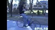 Каране на колело на обратно