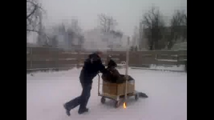 Руски модерен,високотехнологичен снегорин