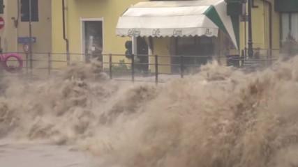Проливни дъждове в Северна Италия покачиха равнището на реки