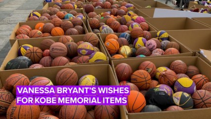 25,000 candles: The shocking numbers of items at Kobe's memorial