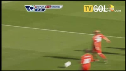 Liverpool 1 - 1 Sunderland - Bent Goal