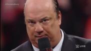 Roman Reigns се изправя срещу Brock Lesnar лице в лице 23.03.15 Първична сила