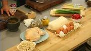 Корейски палачинки; индонезийска пилешка супа и орехов кейк в кора - Бон апети (15.09.2014)