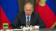 Russia: Putin calls on defence industry to meet orders on time