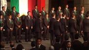Президентът на Мексико изпрати отбора за Мондиала в Бразилия със специална церемония