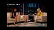 Selena Gomez and Vanessa Hudgens on Chelsea Lately