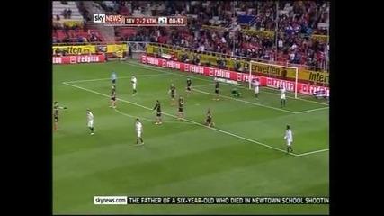 """""""Атлетико"""" (Мадрид) на финала за Купата на краля след 2:2 в реванша срещу """"Севиля"""""""