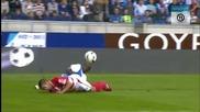 Футболист едва не умира след тежък удар в главата