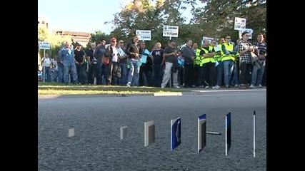 1000 служители на МВР протестираха с искане за увеличение на заплатите с 25%