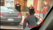 Мъж застрашава живота на полицаи