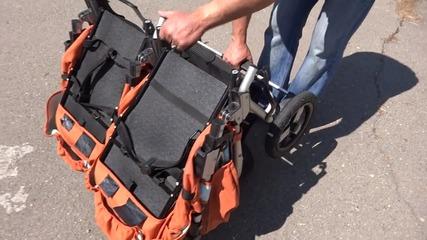 Сгъване/разгъване на Детска количка за близнаци Bumbleride