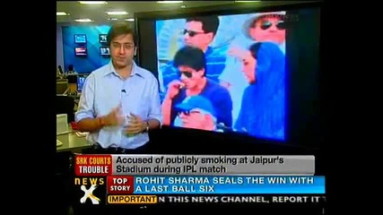Srk in trouble for smoking in public - Newsx