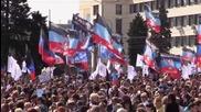 Ukraine: Thousands mark 2nd anniversary of Donetsk People's Republic