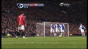 21.02 Манчестър Юнайтед 2 - 1 Блекбърн Кристиано Роналдо Гол! *hq*