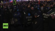Germany: Clashes erupt between pro-refugee protesters and police at AfD demo