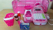 Toy Supermarket Pink Till Cash Register Setvia torchbrowser.com