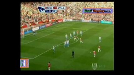 Страхотен гол на Артета с бг коментар - Арсенал 3:0 Астън Вила