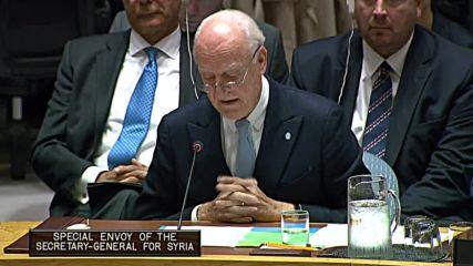 UN: Syria envoy de Mistura to step down at November-end