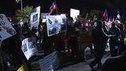 USA: Hundreds rally against nominees outside Hillary v. Trump debate