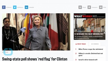 Swing-state Poll Shows 'Red Flag' for Clinton