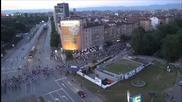 Протестите в София заснети от високо
