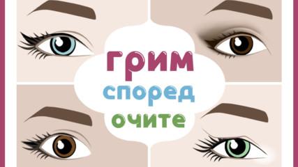 Грим спрямо цвета и формата на очите
