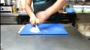 Зеленчукорезачка бърз китаец с нож Негър