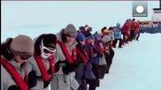 Посрещане Нова година 2014 между айсберги
